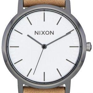Nixon A11992799-00 Kello Valkoinen / Nahka