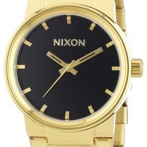 Nixon A160510-00 Kello Musta / Kullansävytetty Teräs