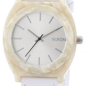 Nixon A3281029-00 Kello Valkoinen / Nahka