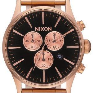 Nixon A3861932-00 Kello Musta / Punakultasävyinen