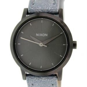 Nixon A3981876-00 Kello Harmaa / Nahka