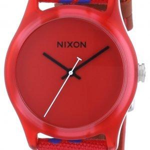 Nixon A402200-00 Kello Punainen / Nahka