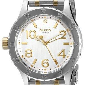 Nixon A4101921-00 Kello Hopea / Kullansävytetty Teräs