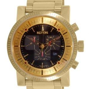 Nixon A457510-00 Kello Musta / Kullansävytetty Teräs