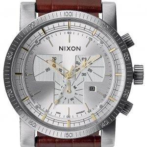 Nixon A4581887-00 Kello Hopea / Nahka