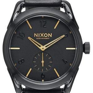 Nixon A459010-00 Kello Musta / Nahka