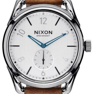 Nixon A4592067-00 Kello Valkoinen / Nahka