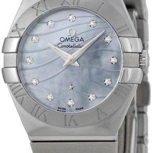 Omega Constellation Quartz 27mm 123.10.27.60.57.001 Kello
