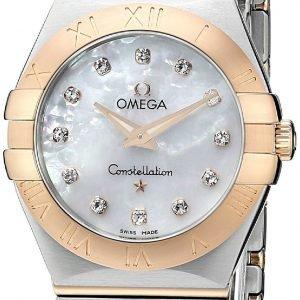 Omega Constellation Quartz 27mm 123.20.27.60.55.001 Kello