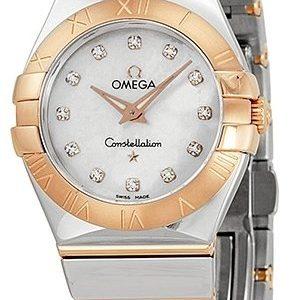Omega Constellation Quartz 27mm 123.20.27.60.55.003 Kello