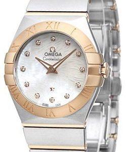 Omega Constellation Quartz 27mm 123.20.27.60.55.007 Kello