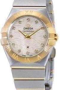 Omega Constellation Quartz 27mm 123.20.27.60.55.008 Kello