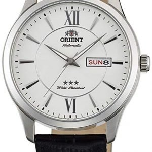 Orient Classic Fab0b003w9 Kello Hopea / Nahka