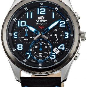 Orient Sporty Fkv01004b0 Kello Musta / Nahka