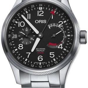 Oris Aviation 01 114 7746 4164-Set 8 22 19 Kello Musta / Teräs