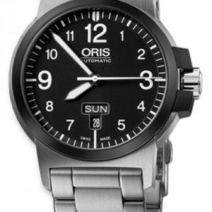 Oris Aviation 01 735 7641 4364-07 8 22 03 Kello Musta / Teräs