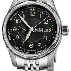 Oris Aviation 01 745 7688 4034-07 8 22 30 Kello Musta / Teräs