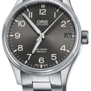 Oris Aviation 01 751 7697 4063-07 8 20 19 Kello Harmaa / Teräs