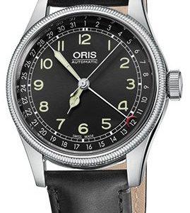 Oris Aviation 01 754 7696 4064-07 5 20 51 Kello Musta / Nahka