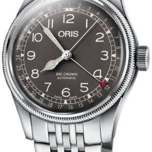 Oris Aviation 01 754 7741 4064-07 8 20 22 Kello Musta / Teräs
