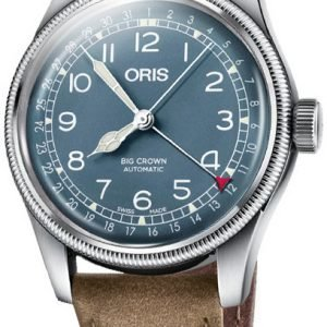 Oris Aviation 01 754 7741 4065-07 5 20 63 Kello Sininen / Nahka