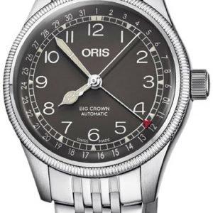 Oris Aviation 01 754 7749 4064-07 8 17 22 Kello Musta / Teräs