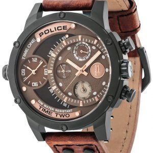 Police Adder Pl14536jsb/12a Kello Ruskea / Nahka