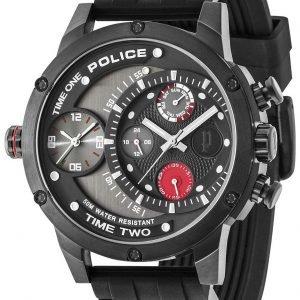 Police Adder Pl14536jsb/Cb Kello Musta / Teräs