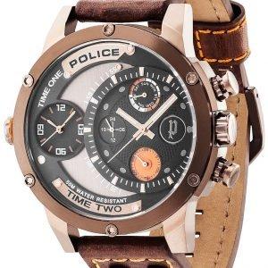 Police Adder Pl14536jsbn/02 Kello Musta / Nahka