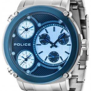 Police Titan Pl14830jstbl/02m Kello Sininen / Teräs
