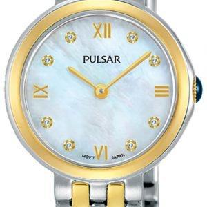 Pulsar Attitude Pm2244x1 Kello Valkoinen / Kullansävytetty