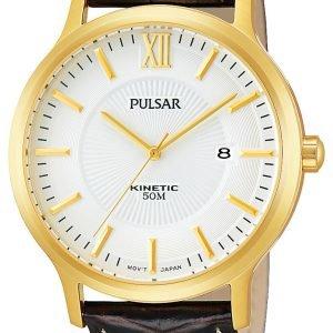 Pulsar Dress Par182x1 Kello Valkoinen / Nahka