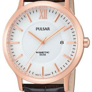 Pulsar Dress Par184x1 Kello Valkoinen / Nahka