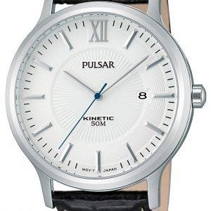 Pulsar Dress Par187x1 Kello Hopea / Nahka