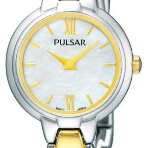 Pulsar Dress Pegf95x1 Kello Valkoinen / Kullansävytetty Teräs