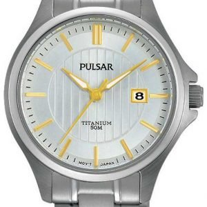 Pulsar Dress Ph7435x1 Kello Hopea / Titaani