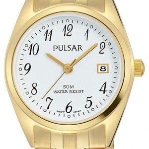 Pulsar Dress Ph7444x1 Kello Valkoinen / Kullansävytetty Teräs