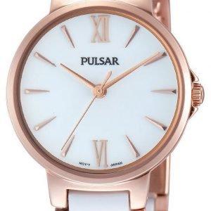 Pulsar Dress Ph8078x1 Kello Valkoinen / Punakultasävyinen
