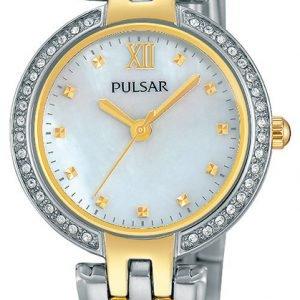 Pulsar Dress Ph8166x1 Kello Valkoinen / Kullansävytetty Teräs