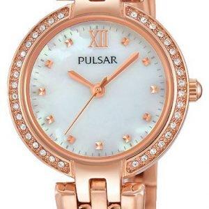 Pulsar Dress Ph8168x1 Kello Valkoinen / Punakultasävyinen