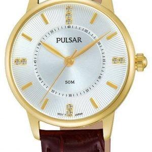 Pulsar Dress Ph8182x1 Kello Valkoinen / Nahka