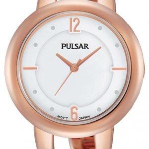 Pulsar Dress Ph8208x1 Kello Valkoinen / Punakultasävyinen