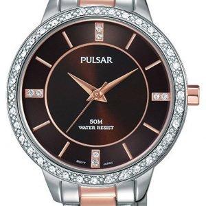 Pulsar Dress Ph8217x1 Kello Ruskea / Punakultasävyinen
