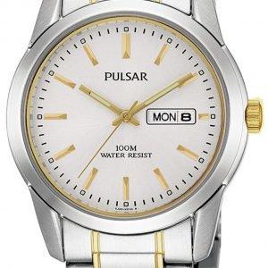 Pulsar Dress Pj6023x1 Kello Valkoinen / Kullansävytetty Teräs