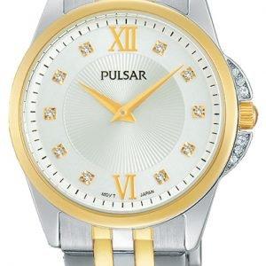 Pulsar Dress Pm2165x1 Kello Valkoinen / Kullansävytetty Teräs