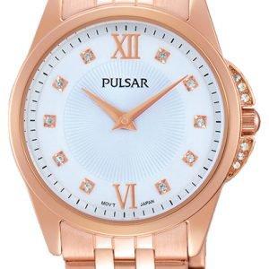 Pulsar Dress Pm2180x1 Kello Valkoinen / Punakultasävyinen