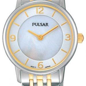 Pulsar Dress Prw027x1 Kello Valkoinen / Kullansävytetty Teräs