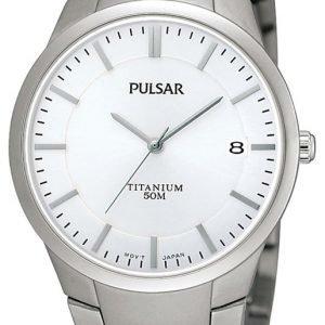 Pulsar Dress Ps9009x1 Kello Hopea / Titaani