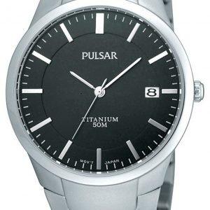Pulsar Dress Ps9013x1 Kello Musta / Titaani