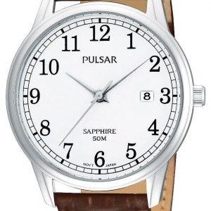 Pulsar Dress Ps9055x1 Kello Valkoinen / Nahka